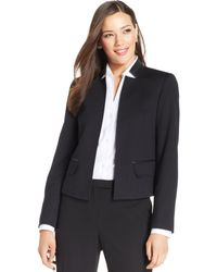 Jones New York Petite Fauxleathertrim Openfront Blazer - Lyst