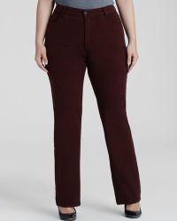 Nydj Plus Marilyn Straight Leg Jeans In Port - Lyst
