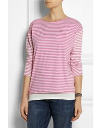 Chinti And Parker Stripe Sailor Organic Cotton Top - Lyst