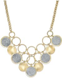 Style & Co. - Glitter Circle Bib Necklace - Lyst