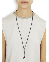 Vitaly - Sequoia Matte Black Axe Necklace - Lyst