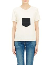 Boy by Band of Outsiders Slub Jersey T-Shirt white - Lyst