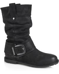 Cara London | Slouchy Mid Boot | Lyst