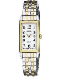 Seiko Women'S Solar Two-Tone Stainless Steel Expansion Bracelet Watch 16Mm Sup228 - Lyst