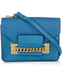 Sophie Hulme Structured Chain Envelope Cross-Body Bag - Lyst