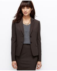 Ann Taylor Tall Tropical Wool Two Button Jacket - Lyst