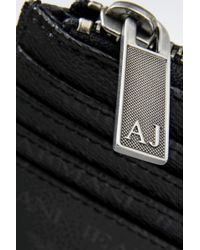 Armani Jeans - Credit Card Holder In Logo Patterned Pvc - Lyst