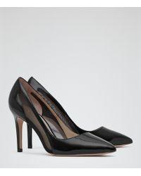 Reiss Baker Mesh Detail Court Shoes - Lyst