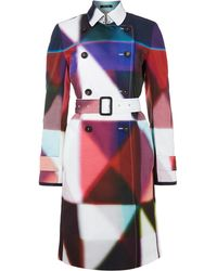 Paul Smith Black Label Printed Trench Coat - Lyst