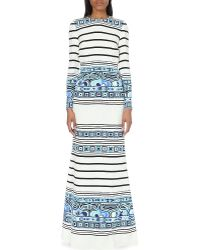 Emilio Pucci Open Back Printed Silk Gown - Lyst