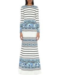Emilio Pucci Open-Back Printed Silk Gown - Lyst