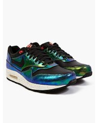 Nike Nike Black Air Max 1 Sup Qs Iridescent Sneakers - Lyst