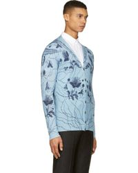 Alexander McQueen Blue Paisley and Floral Sweater - Lyst