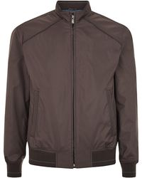 Corneliani Leather Trim Blouson Jacket - Lyst