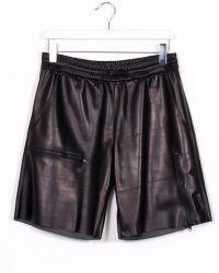 DROMe Shine Black Leather Short black - Lyst