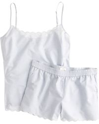 J.Crew Scalloped Pajama Short Set in Endonend Cotton - Lyst