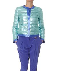 Blancha -Woman-Reversible-Jacket-In-Lame-Fabric - Lyst