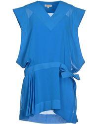 Mugler Short Dress blue - Lyst