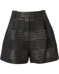 3.1 Phillip Lim Army Metallic Full Bermuda Shorts - Lyst