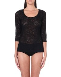 Wolford Zerafina Lace Pullover Black - Lyst