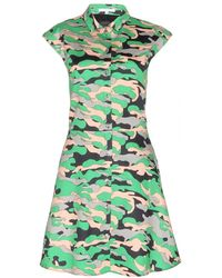 Carven Camouflageprint Cottontwill Dress - Lyst