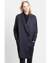 Julien David | Double Breasted Oversize Wool Coat | Lyst
