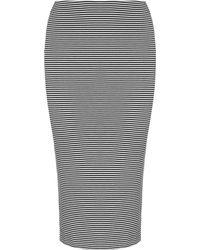 Whistles Long Fine Stripe Jersey Tube Skirt - Lyst