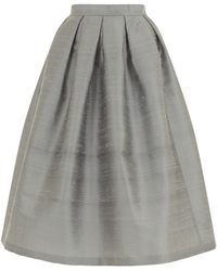 House Of Holland Shantung Dirndl Skirt - Lyst