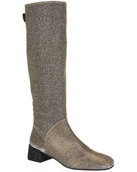 Stuart Weitzman Ruse Glitter Knee High Boot - Lyst