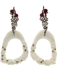 Bochic Hand Carved Mammoth Earrings - Lyst