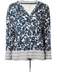 Tory Burch Floral-Print Cotton Hoodie - Lyst