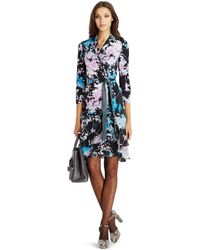Diane von Furstenberg - Cathy Floral Daze Wrap Dress - Lyst