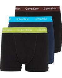 Calvin Klein Multi 3 Pack Trunks - Lyst