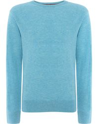 Howick The Arlington Crew Neck Jumper blue - Lyst