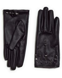 Zara Studded Gloves - Lyst