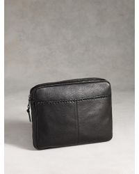 John Varvatos - Leather Whipstitched Pouch - Lyst