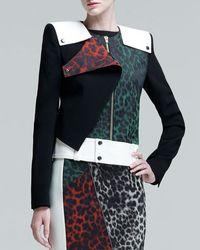 Roland Mouret Durango Leopardjacquard Jacket - Lyst