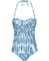 Heidi Klein Laos Twist Bandeau Control Swimsuit - Lyst