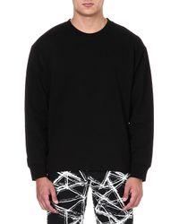 McQ by Alexander McQueen Mcq Sidezip Jersey Sweatshirt Alexander Mcqueen Black - Lyst