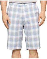 Calvin Klein Shadow Plaid Shorts gray - Lyst