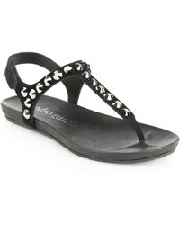 Pedro Garcia Studded Suede Thong Sandals - Lyst
