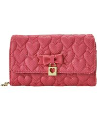 Betsey Johnson Always Be Mine Wallet On A String pink - Lyst