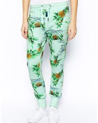 Zoe Karssen Sweat Pants with Tropical Print - Lyst