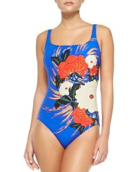 Gottex Mandarin Square-Neck One-Piece Swimsuit - Lyst
