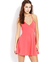Forever 21 Night Moves Surplice Dress - Lyst