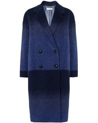 Paul by Paul Smith - Oversized Ombre Mohair Coat - Lyst