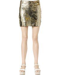 DROMe Laser-Cut Nappa Leather Mini Skirt - Lyst
