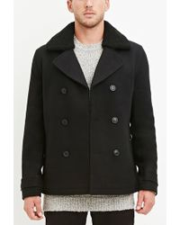 Forever 21 - Faux Shearling Collar Coat - Lyst