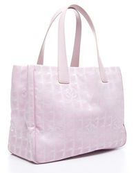 Chanel Preowned Pink Travel Ligne Tote - Lyst