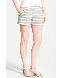 Lucky Brand Stripe Cotton Shorts - Lyst